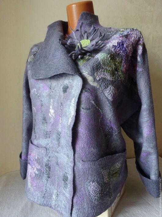Пиджаки, жакеты ручной работы. Ярмарка Мастеров - ручная работа. Купить Валяный жакет. Handmade. Серый, войлочные штучки бердск