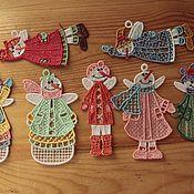 Подарки к праздникам ручной работы. Ярмарка Мастеров - ручная работа Феечки-снеговики. Handmade.