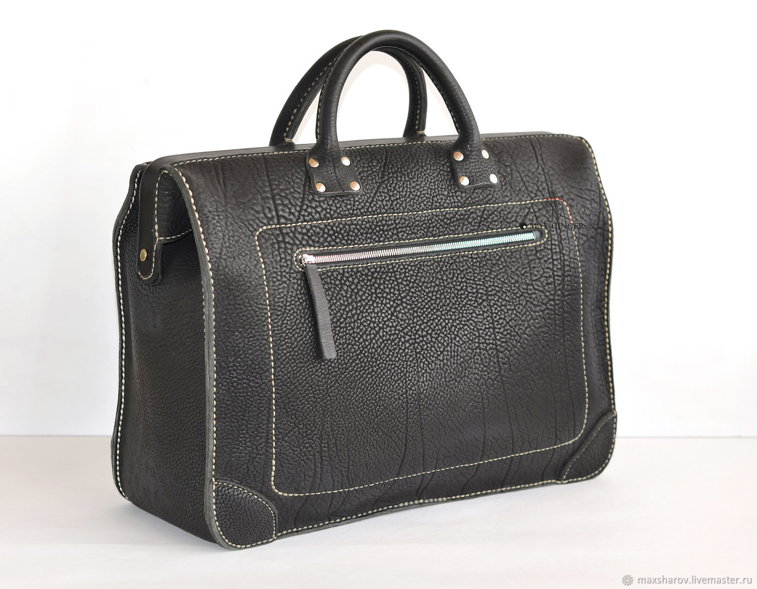 Leather carpetbag (trunk) handmade. Luxemburg, Valise, Moscow,  Фото №1