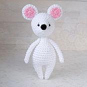 Куклы и игрушки ручной работы. Ярмарка Мастеров - ручная работа Белая мышка - вязаная игрушка амигуруми. Handmade.