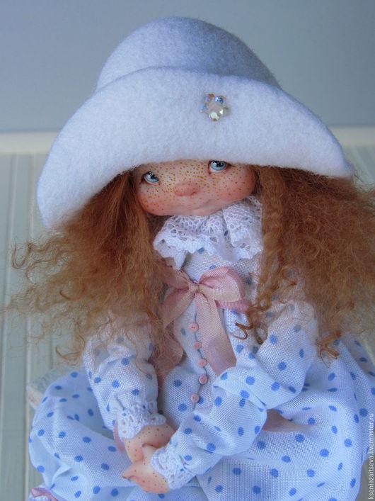 """Коллекционные куклы ручной работы. Ярмарка Мастеров - ручная работа. Купить """"Вайти"""". Handmade. Белый, кукла в шляпе, кружево"""