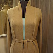 Одежда ручной работы. Ярмарка Мастеров - ручная работа Кардиган бежевый. Handmade.