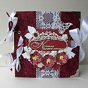 Свадебный салон ручной работы. Ярмарка Мастеров - ручная работа Книга пожеланий-альбом для фото. Handmade.