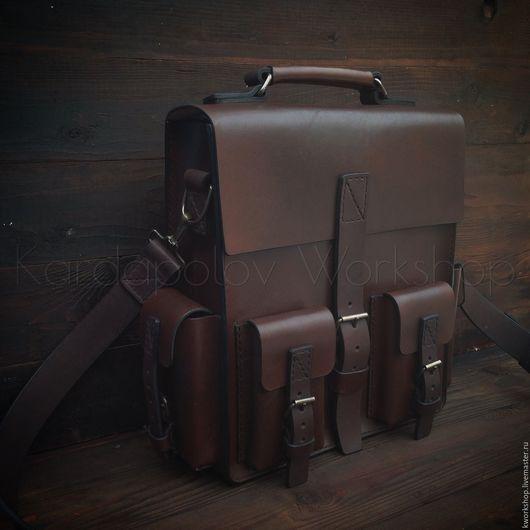 Мужские сумки ручной работы. Ярмарка Мастеров - ручная работа. Купить Наплечная сумка-рюкзак 98. Handmade. Сумка для туризма