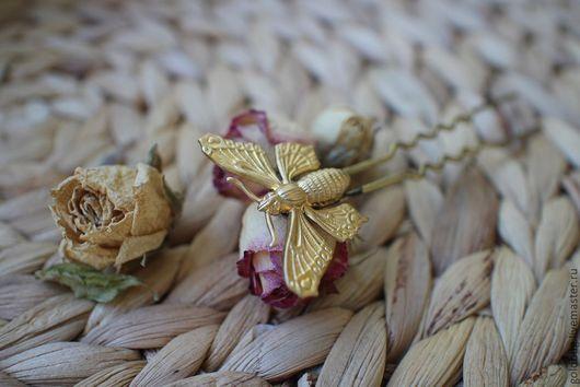 Заколки ручной работы. Ярмарка Мастеров - ручная работа. Купить Шпилька бабочка. Handmade. Бабочка, шпилька для волос