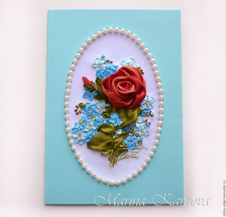 Вышивка лентами открытки фото
