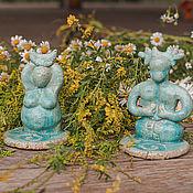Фен-шуй и эзотерика handmade. Livemaster - original item Horned God and Moon Goddess - wiccan altar candle holders, set of 2. Handmade.