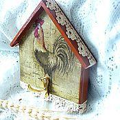 """Для дома и интерьера ручной работы. Ярмарка Мастеров - ручная работа Вешалка-ключница """"Петушок"""". Handmade."""