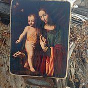 Картины и панно ручной работы. Ярмарка Мастеров - ручная работа Дева Мария с младенцем.. Handmade.