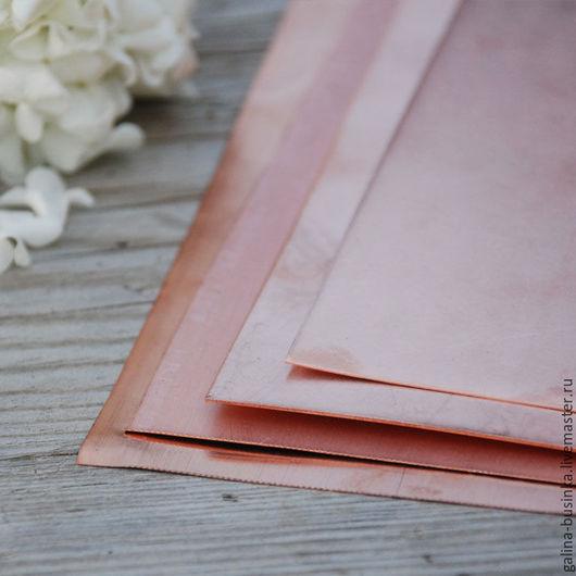 Другие виды рукоделия ручной работы. Ярмарка Мастеров - ручная работа. Купить Медь листовая. Handmade. Оранжевый, медный лист