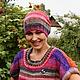 Шапки ручной работы. Шапочка Коралловое чудо.. Knitted fashion by Ekaterina Bykova. Ярмарка Мастеров. Шапка вязаная, норо