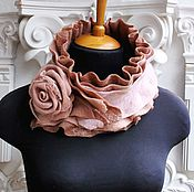 """Аксессуары ручной работы. Ярмарка Мастеров - ручная работа Шарф с розой """"Крем-роза"""". Handmade."""