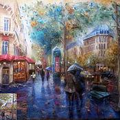 Картины и панно ручной работы. Ярмарка Мастеров - ручная работа Дождь. Handmade.