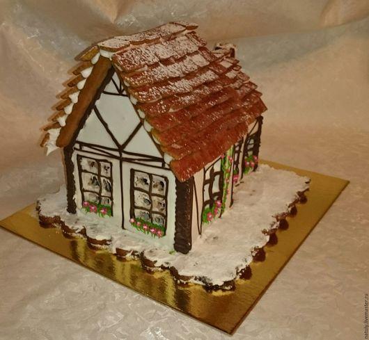 Персональные подарки ручной работы. Ярмарка Мастеров - ручная работа. Купить Пряничный домик в немецком стиле. Handmade. Белый, корица