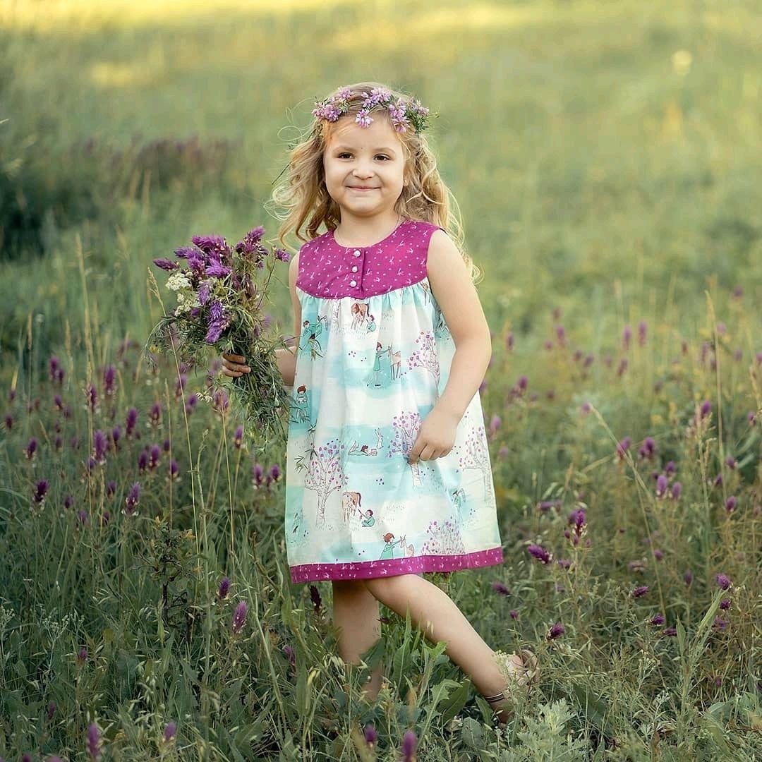 Одежда для девочек, ручной работы. Ярмарка Мастеров - ручная работа. Купить Сарафан на девочку р.104-110 из дизайнерского американского хлопка. Handmade.