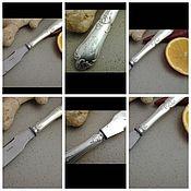 Винтаж ручной работы. Ярмарка Мастеров - ручная работа Франция. Антикварный нож. Серебро 950 пробы+сталь.. Handmade.