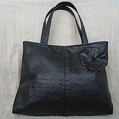 Сумки и аксессуары handmade. Livemaster - original item Bag black leather art.1-123. Handmade.