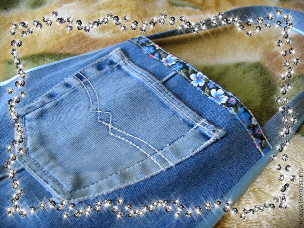 Фартук из джинсов доставка