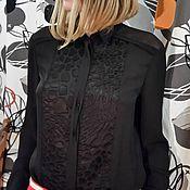 Одежда ручной работы. Ярмарка Мастеров - ручная работа Блузка женксая черная. Handmade.