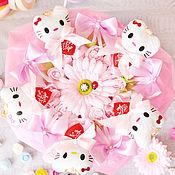 """Цветы и флористика ручной работы. Ярмарка Мастеров - ручная работа Букет из мягких игрушек """"Hello Kitty, hello spring!"""". Handmade."""