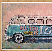 Картины и панно ручной работы. Ярмарка Мастеров - ручная работа Любовь - это всё, что тебе нужно.. Handmade.