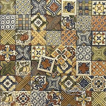 Diseño y publicidad manualidades. Livemaster - hecho a mano Apron for kitchen Italian tiles 2. Handmade.