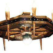 Для дома и интерьера ручной работы. Ярмарка Мастеров - ручная работа люстра под старину с факелами. Handmade.