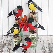 Куклы и игрушки handmade. Livemaster - original item Birds Warbler and bullfinch. Toys made of wool. A gift for the New year. Handmade.
