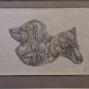 Картины и панно ручной работы. Ярмарка Мастеров - ручная работа Картины: Воспоминания о собаках. Handmade.
