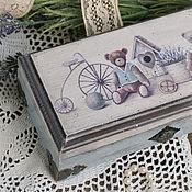"""Для дома и интерьера ручной работы. Ярмарка Мастеров - ручная работа Шкатулка """"Прощайте, игрушки"""", ретро, винтаж. Handmade."""