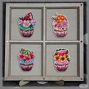 Для дома и интерьера handmade. Livemaster - original item Magnets: Cupcakes seasons. Handmade.