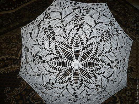 Зонты ручной работы. Ярмарка Мастеров - ручная работа. Купить Вязаный зонтик. Handmade. Ажурный зонт, вязаный зонтик