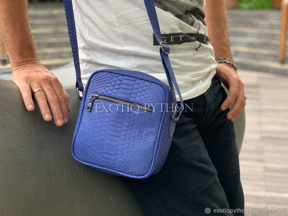 Bag leather Python, Men\'s bag, Moscow,  Фото №1
