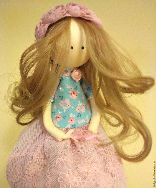 Коллекционные куклы ручной работы. Ярмарка Мастеров - ручная работа. Купить Дюймовочка. Handmade. Розовый, подарок девушке, волосы искусственные