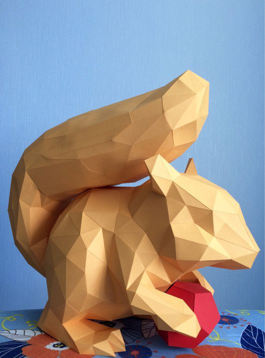 Дизайн интерьеров ручной работы. Ярмарка Мастеров - ручная работа. Купить Белочка. Handmade. Белка, декоративный элемент, origami