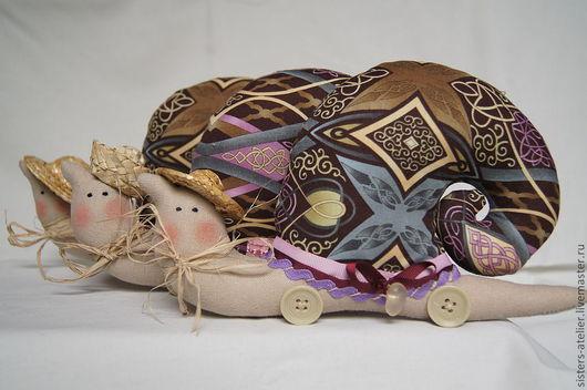 """Куклы Тильды ручной работы. Ярмарка Мастеров - ручная работа. Купить улитка Тильда - """"Три сестры"""" - Даша, Маша, Наташа. Handmade."""
