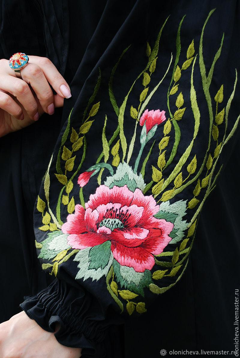 Embroidered black dress knee length 'Captivating Mac', Dresses, Vinnitsa,  Фото №1