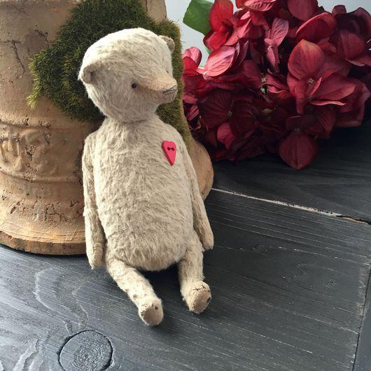 Мишки Тедди ручной работы. Ярмарка Мастеров - ручная работа. Купить Мишка с сердечком. Handmade. Бежевый, мишка, мишка тедди