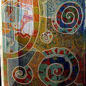 Аксессуары handmade. Livemaster - original item Silk batik stole