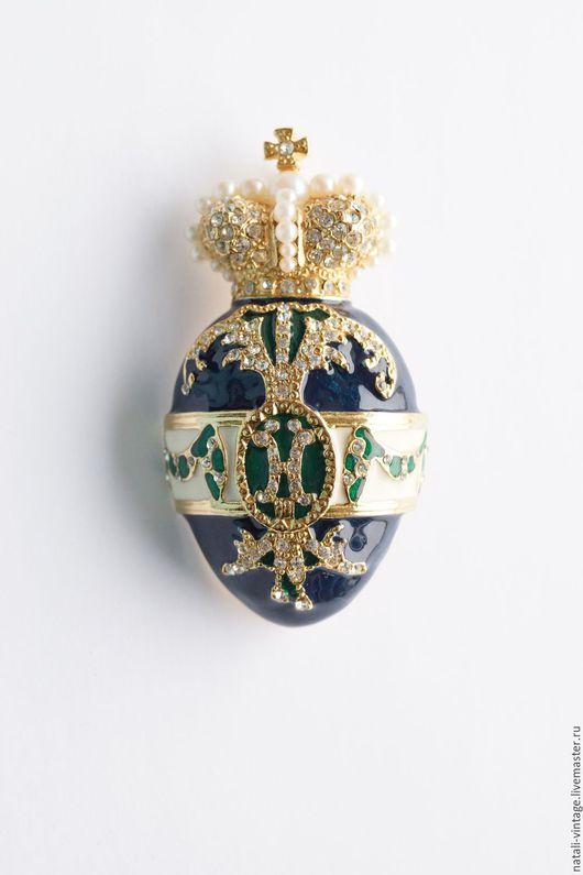 """Винтажные украшения. Ярмарка Мастеров - ручная работа. Купить Брошь """"Императорское яйцо"""" в стиле Фаберже, Joan Rivers. Handmade."""