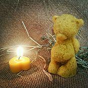 """Свечи ручной работы. Ярмарка Мастеров - ручная работа Восковая свеча """"Мишка Тедди"""". Handmade."""