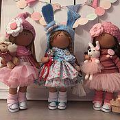 Куклы и игрушки ручной работы. Ярмарка Мастеров - ручная работа Интерьерная текстильная кукла Подружки. Handmade.