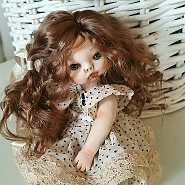 Куклы и игрушки ручной работы. Ярмарка Мастеров - ручная работа Куколка Коко, 16см. Handmade.