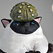 Цветы и флористика handmade. Livemaster - original item A cat with a cactus on his head. Handmade.