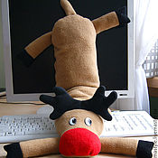 Сувениры и подарки handmade. Livemaster - original item Christmas gift-keyboard pillow Christmas Deer. Handmade.