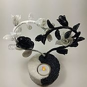 Для дома и интерьера ручной работы. Ярмарка Мастеров - ручная работа Светильник Инь Янь. Handmade.
