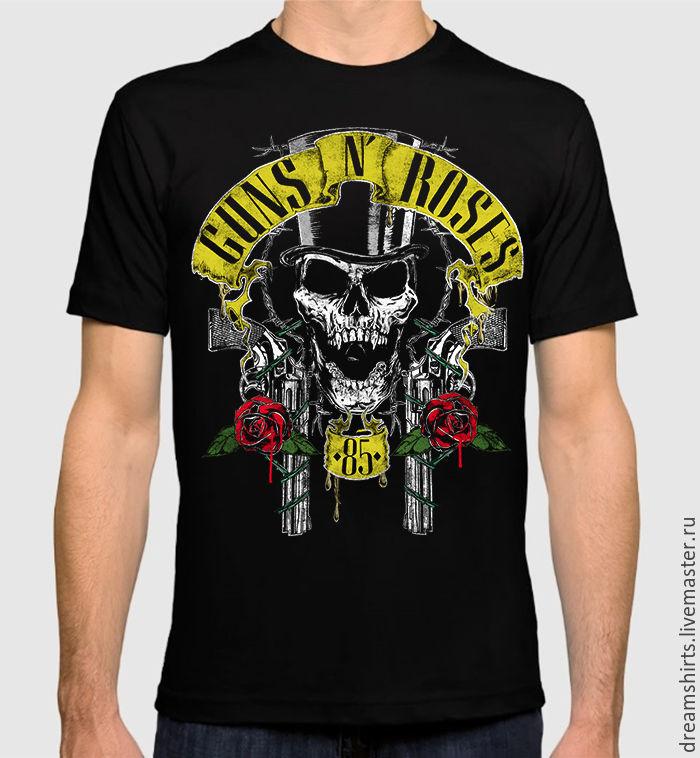 """Футболка с принтом """"Guns' N' Roses"""", T-shirts, Moscow,  Фото №1"""