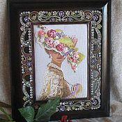 """Картины и панно ручной работы. Ярмарка Мастеров - ручная работа """"Викторианская элегантность"""". Handmade."""