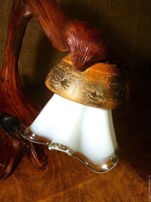Освещение ручной работы. Ярмарка Мастеров - ручная работа. Купить Настольный светильник из корня можжевельника. Handmade. Коричневый, можжевельник