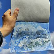 Картины и панно handmade. Livemaster - original item Pictures: The Picture Clouds. Handmade.